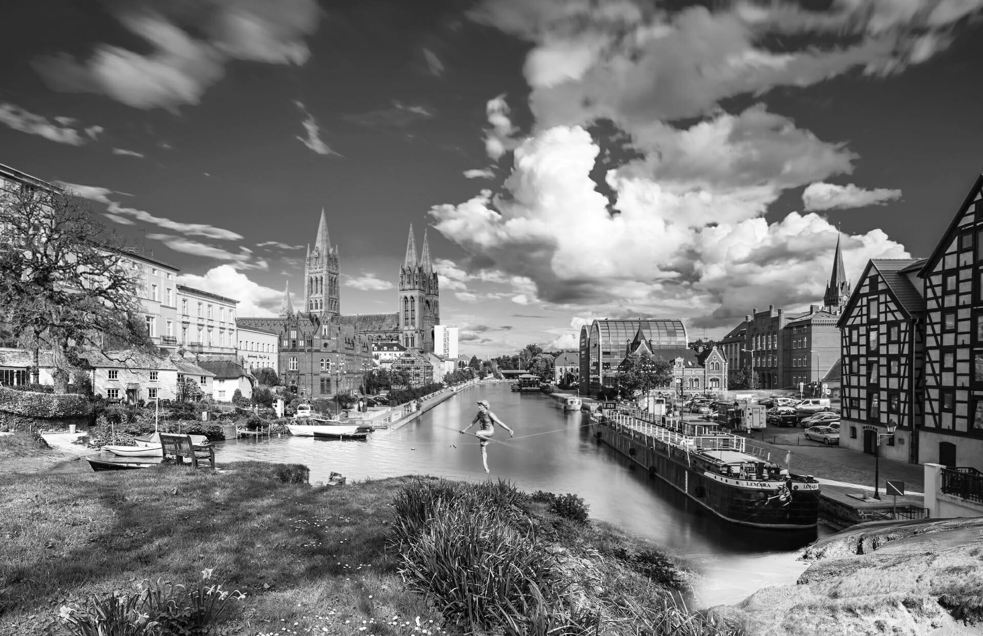 Combined image of Bydgoszcz & Truro